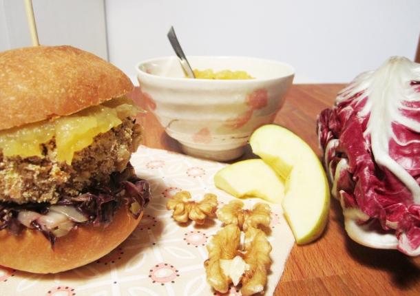 burger di ceci radicchio e mele