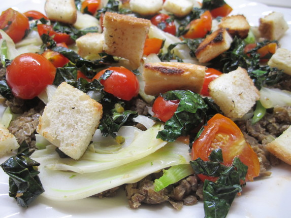 insalata di lenticchie e finocchi