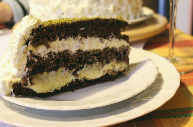 torta pistacchio e cioccolato