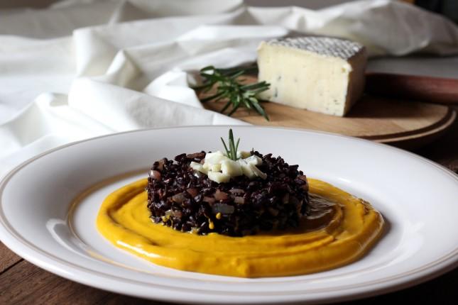 riso nero con rosmarino zucca e form erborinato (4)
