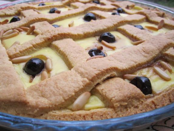 crostata crema pinoli e amarene (1)