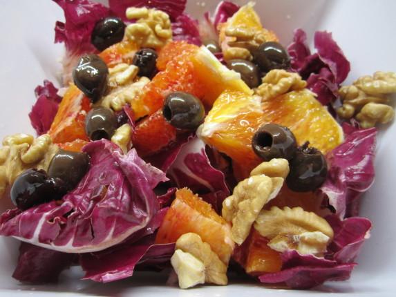 insalata radicchio e arance