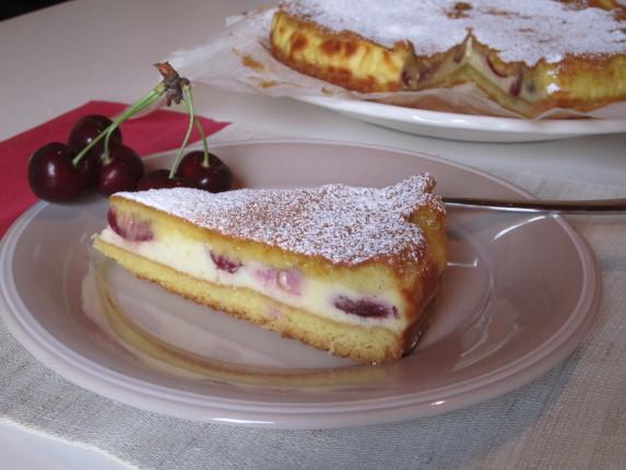 torta cremosa ciliegie e ricotta