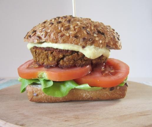 vegburger lenticchie e quinoa