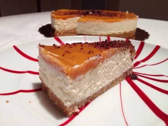 cheesecake cachi e cocco