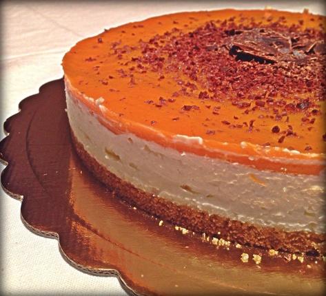 cheesecake cachi e cocco.
