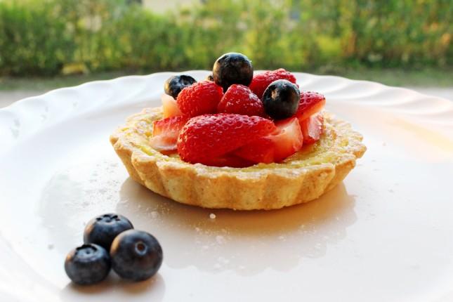 tartelletta crema cotta e frutti rossi (
