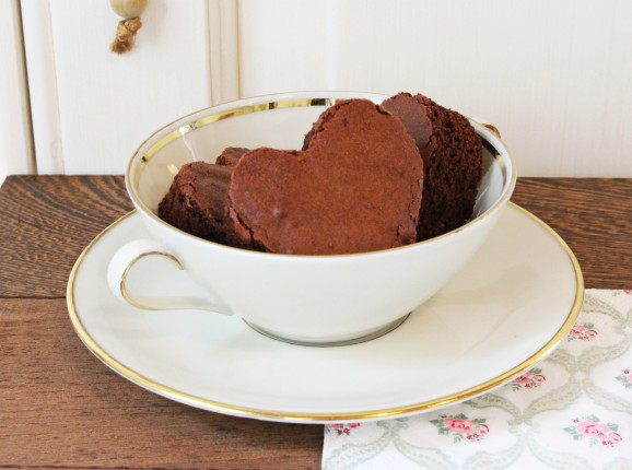 brownies a cuore