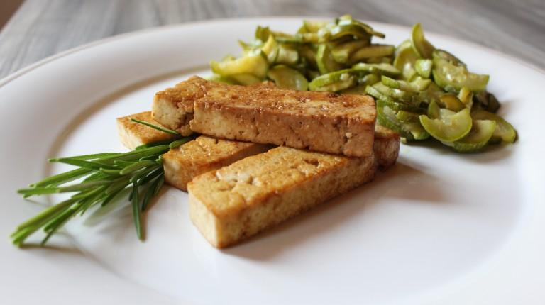 tofu marinato croccante