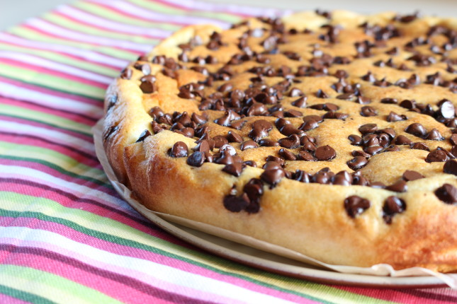 torta morbida alla ricotta e gocce di cioccolato