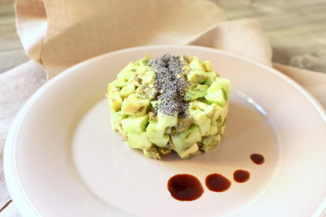 tartare di avocado e cetriolo