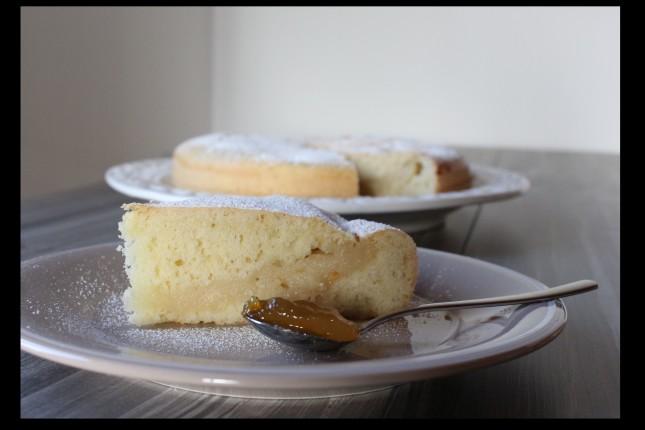 torta senza lattosio con crema agli agrumi