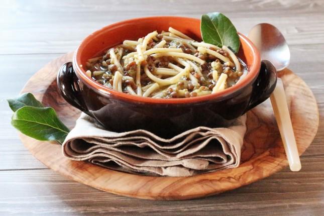 zuppetta di broccoli e lenticchie