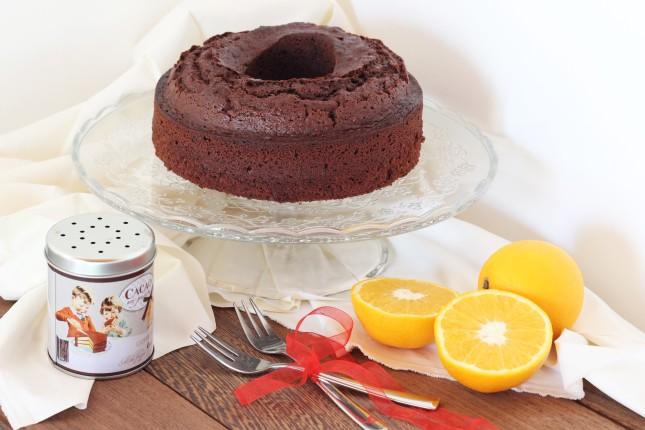 ciambella senza lattosio al cioccolato e arancia (1)