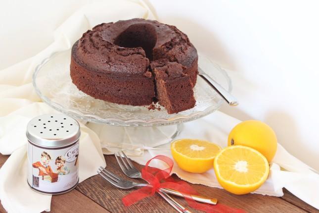 ciambella senza lattosio al cioccolato e arancia (2)