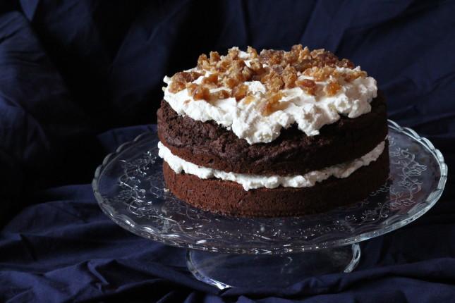 torta cacao e castagne vestita a festa (2)