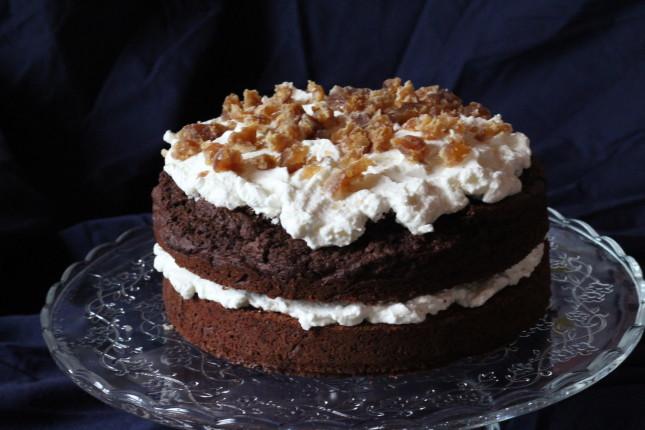 torta cacao e castagne vestita a festa (3)
