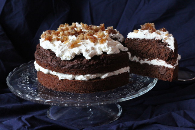 torta cacao e castagne vestita a festa (5)