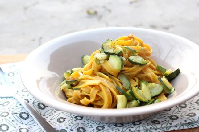 tagliatelle alla curcuma con fiori di zucchina (4)