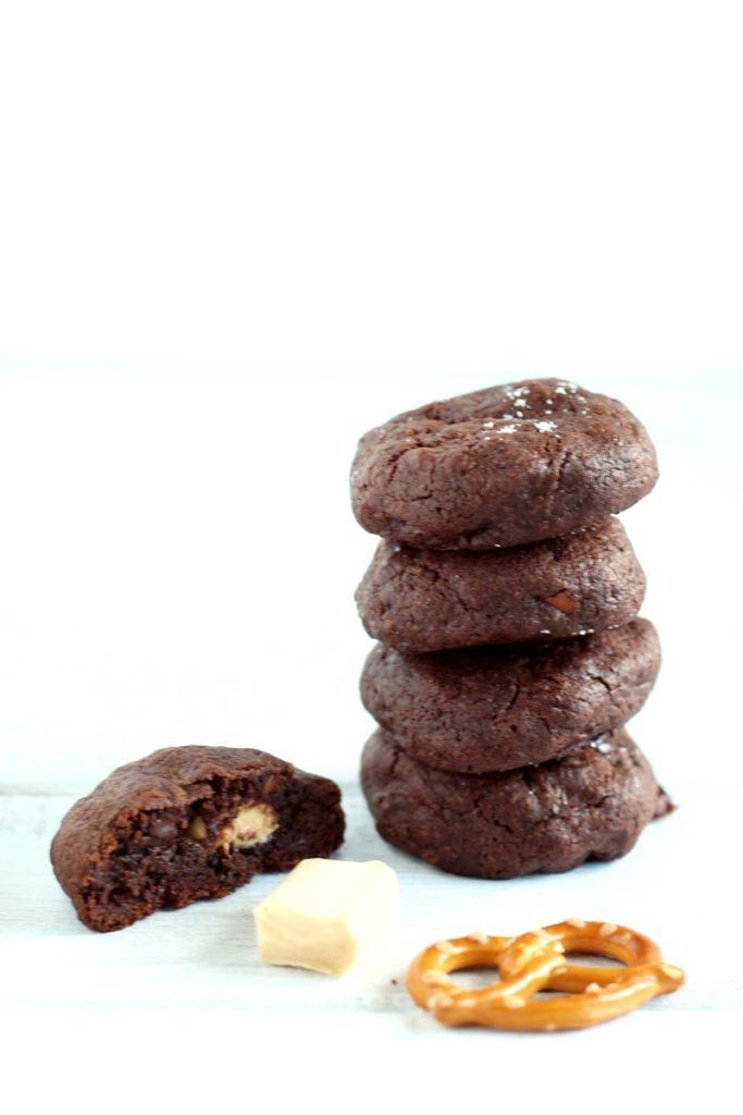 cookies caramello salato e pretzel