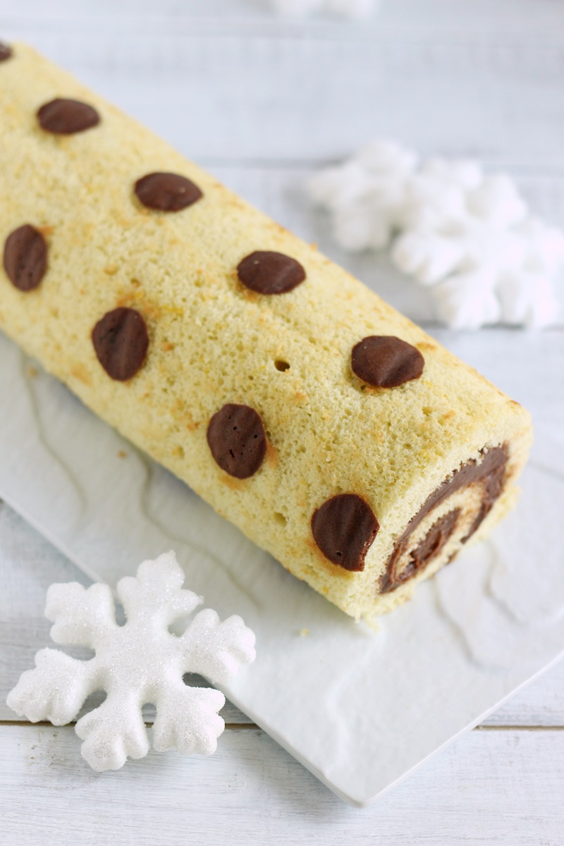 rotolo decorato nutella e mascarpone